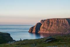 Północny przylądek sławna atrakcja turystyczna, Finnmark, Norwegia Obrazy Royalty Free