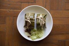 Północny Tajlandzki jedzenie z korzennymi ryż Obrazy Stock