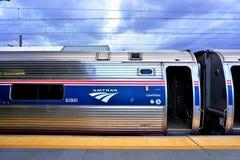 Północny wschód regionalności pociąg od Amtrak obrazy royalty free