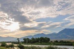 Północny Wyoming krajobraz fotografia royalty free