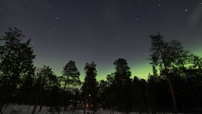Północnych świateł above marznący kraj nad arktyczny w Finlandia zdjęcie wideo