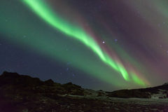 Północnych świateł pokaz od Iceland Zdjęcie Stock