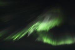 Północnych świateł zasłony nad Gimsoey Fotografia Royalty Free