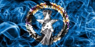 Północnych Mariana wysp dymu flaga, wspólnota narodów Zlany zdjęcie royalty free
