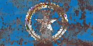 Północnych Mariana wysp grunge flaga, wspólnota narodów Zlany fotografia royalty free