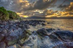 Północy Kaneohe Plażowi korpusy piechoty morskiej Podstawowy Hawaje Obraz Stock