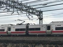 Północy linii kolejowej pociąg w Stamford, Connecticut zdjęcie stock