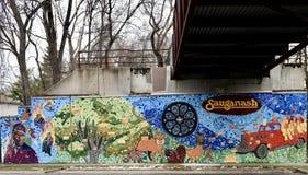 Północy Sauganash Ścienny malowidło ścienne zdjęcie stock
