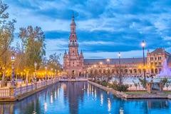 Północy wierza na Placu De Espana, Seville zdjęcia stock