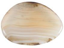 Półprzeźroczystego agata otoczaka makro- odosobniony Fotografia Royalty Free