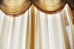 półprzezroczysty zasłony okno zdjęcie stock