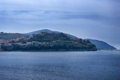 Półwysepa Agropoli wioska, Włochy Obrazy Royalty Free
