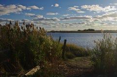 Późne popołudnie Connecticut rzeką Zdjęcia Royalty Free
