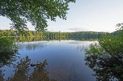 Późne Popołudnie na Pustkowie jeziorze zdjęcia stock