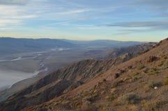 Późne Popołudnie przy Dante ` s widokiem w Śmiertelnym Dolinnym Kalifornia Fotografia Stock