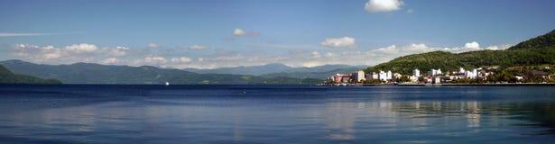 Późne Popołudnie sceny Toya Toyako Jeziorny hokkaido Japonia Zdjęcie Royalty Free
