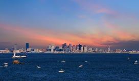 Późne Popołudnie widok Boston Obraz Stock