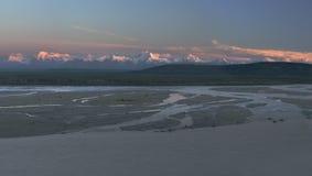 później panorama światła Fotografia Stock