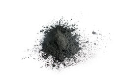 Pó ativado do carvão vegetal disparado com lente macro Foto de Stock Royalty Free