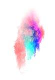 Pó colorido lançado Fotos de Stock