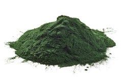 Pó de algas de Spirulina Fotos de Stock Royalty Free