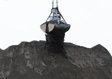 Pó de carvão e cubeta da parte superior Foto de Stock Royalty Free