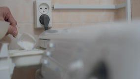 Pó detergente de derramamento filme