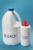 Pó e descorante de limpeza Imagem de Stock Royalty Free