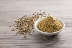 Pó e semente da erva-doce Imagem de Stock Royalty Free