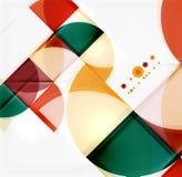 Półkole trójboka wzór Obrazy Stock