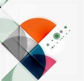 Półkole trójboka wzór Fotografia Stock