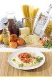 półkowy spaghetti Obrazy Royalty Free