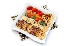 Półmiski piec na grillu warzywa Obrazy Stock