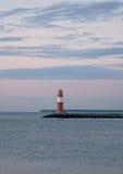 półmrok latarnia morska Zdjęcie Royalty Free