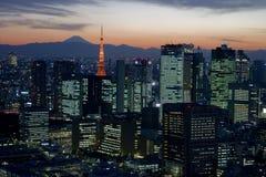 półmrok Tokyo Zdjęcia Stock