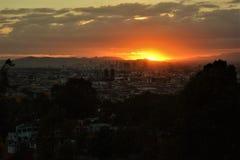 Półmrok w Puebla Zdjęcie Royalty Free