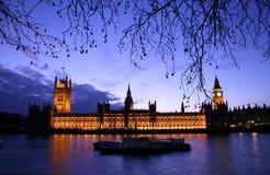 półmrok Westminster Zdjęcie Stock