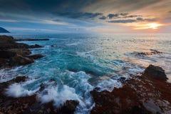 półmroku Hawaii brzeg Fotografia Stock