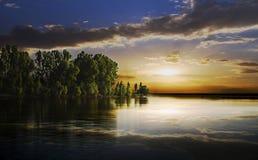 półmroku jezioro Obraz Stock