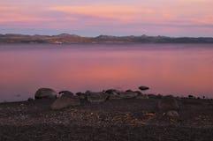półmroku jezioro Yellowstone Obrazy Stock