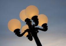 półmroku lampy ulica Fotografia Royalty Free