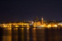 półmroku Malta stary Valletta widok Zdjęcie Royalty Free