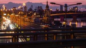 półmroku Manhattan ruch drogowy zbiory wideo
