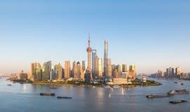 półmroku Shanghai linia horyzontu Fotografia Royalty Free