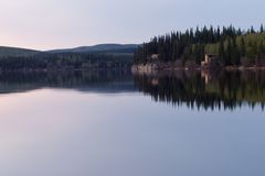 później razem pokojowo jezioro Zdjęcia Stock