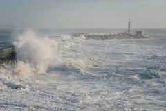 Północ Portugalia Vila Do Conde latarnia morska Zdjęcia Stock
