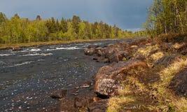 Północ russia.Rivers.002 Zdjęcie Royalty Free
