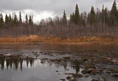 Północ Russia.Rivers. Fotografia Royalty Free
