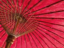 Północ stylowy czerwony parasol Tajlandia Obrazy Stock