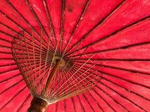 Północ stylowy czerwony parasol Tajlandia Fotografia Stock
